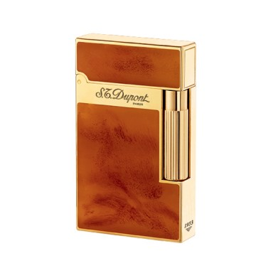ST Dupont Lighter - Atelier Collection - Chinese Lacquer Light Brown and Gold