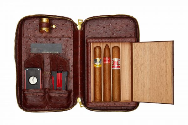Puro Cigar Travel Case: Original Leather with Cigar Rest