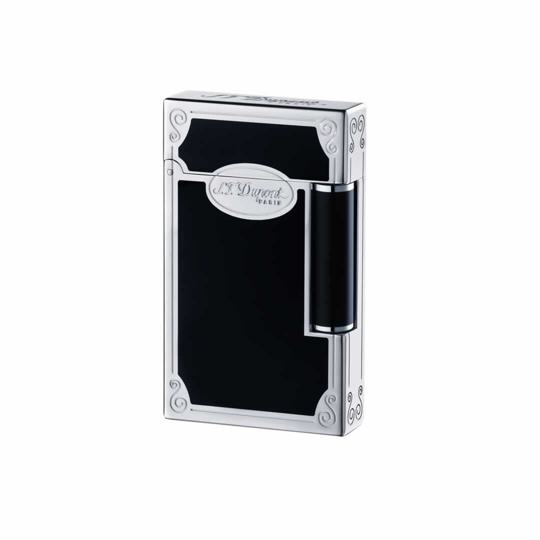 ST Dupont Lighter - Ligne 2 - Black Chinese Lacquer and Palladium Lighter
