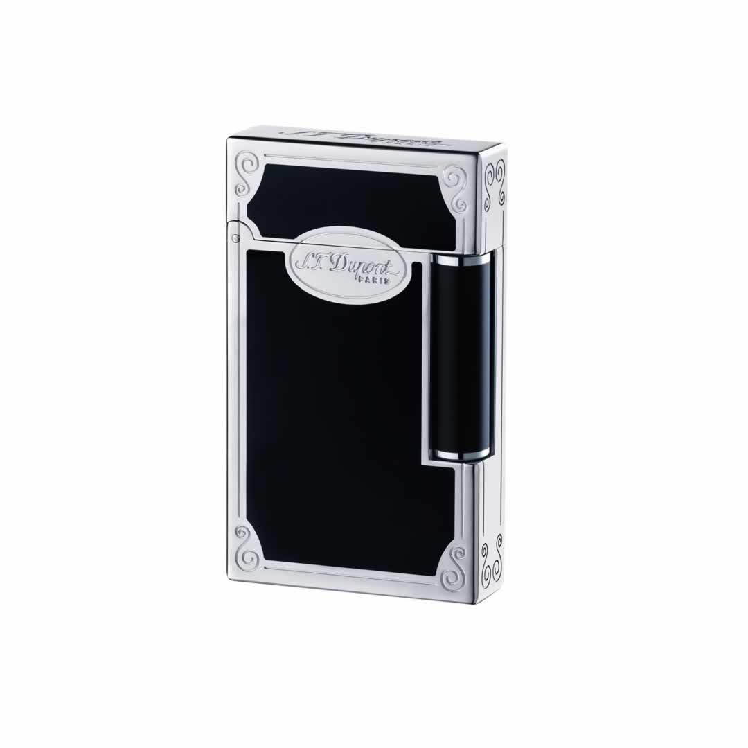 ST Dupont Lighter - Ligne 2 - Black Chinese Lacquer and Palladium Lighter