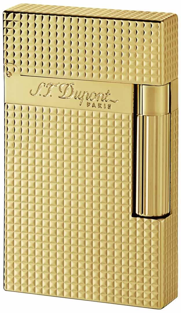 ST Dupont Lighter - Ligne 2 - Gold Diamond Head
