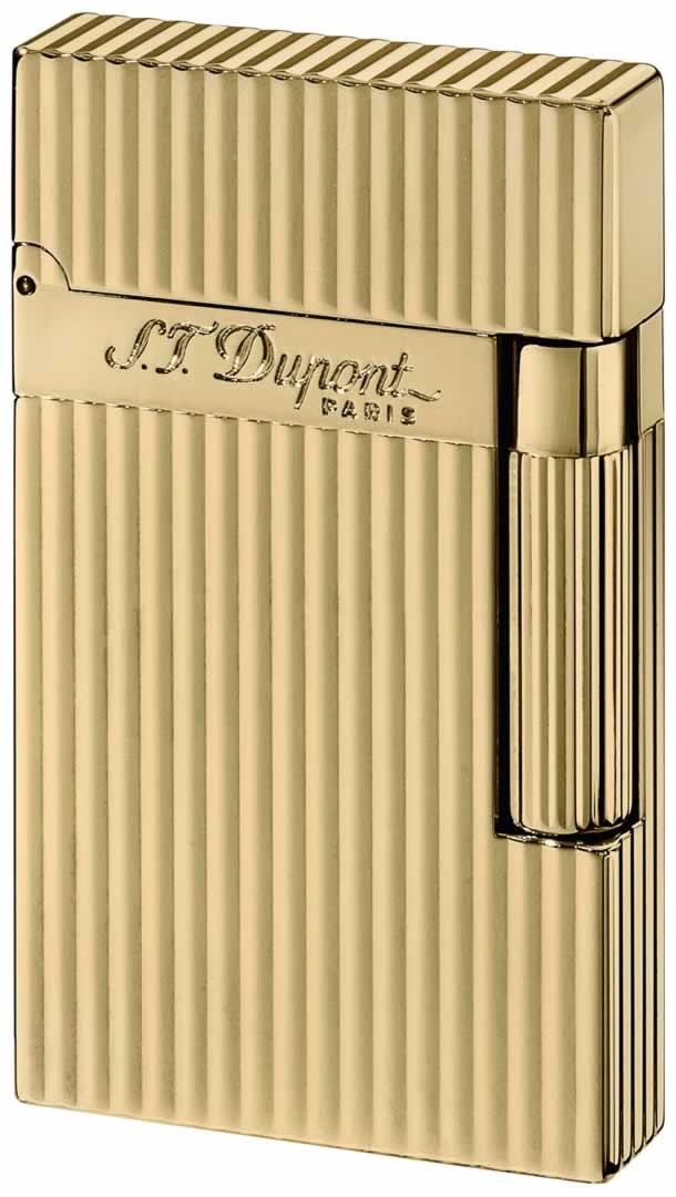 ST Dupont Lighter - Ligne 2 - Gold Montparnasse Vertical Lines