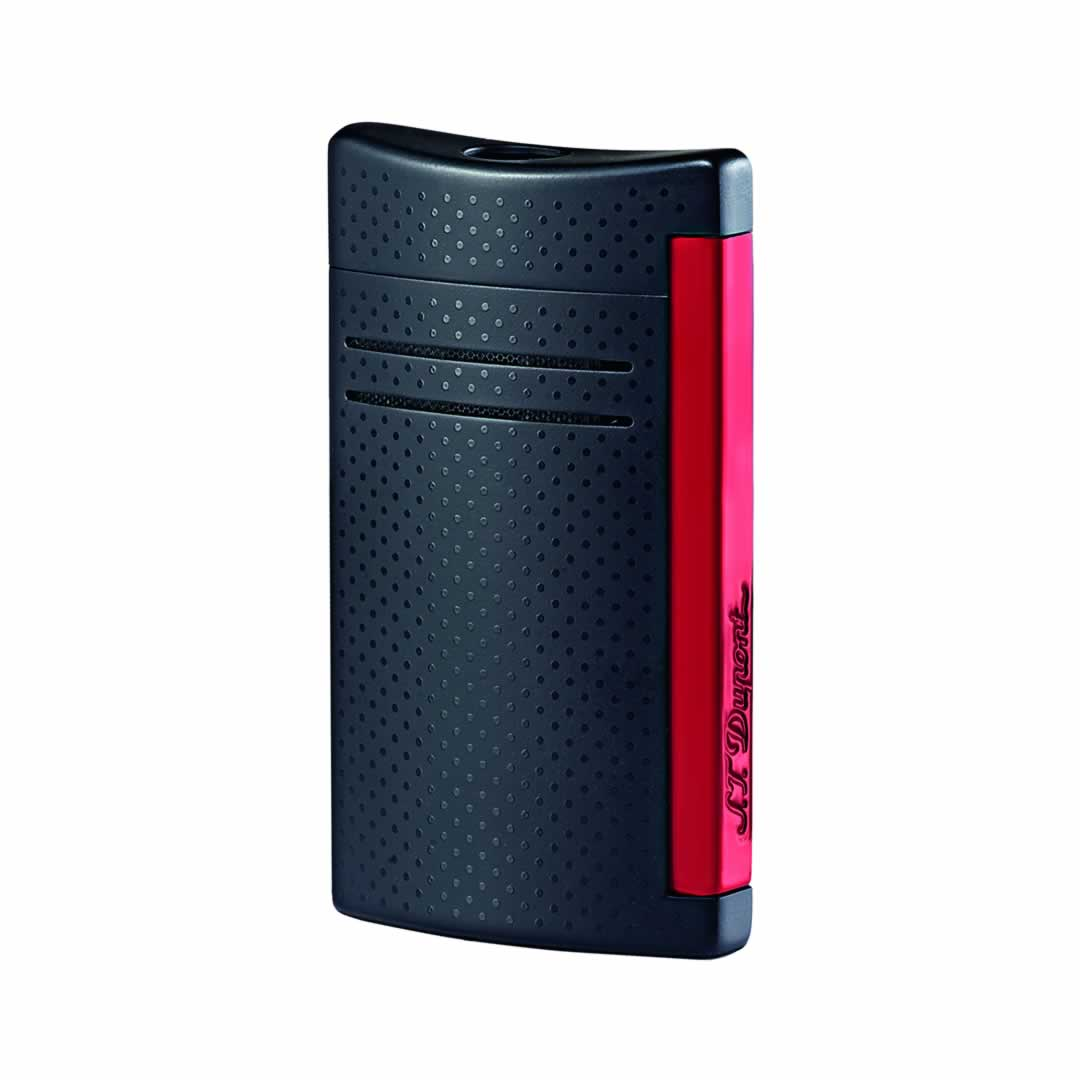 ST Dupont Lighter - Maxijet - Black and Red