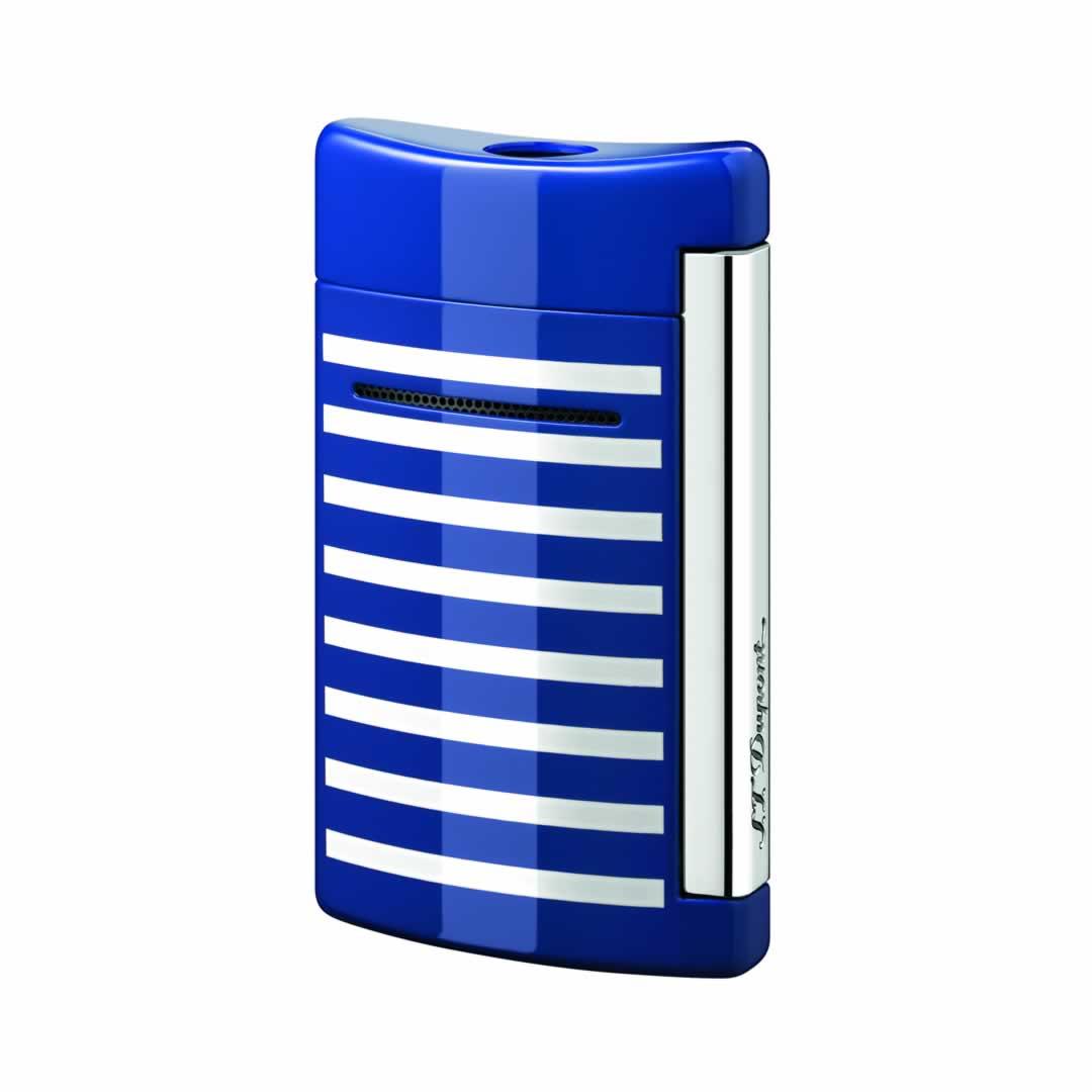 ST Dupont Lighter - Minijet - Blue with white stripes