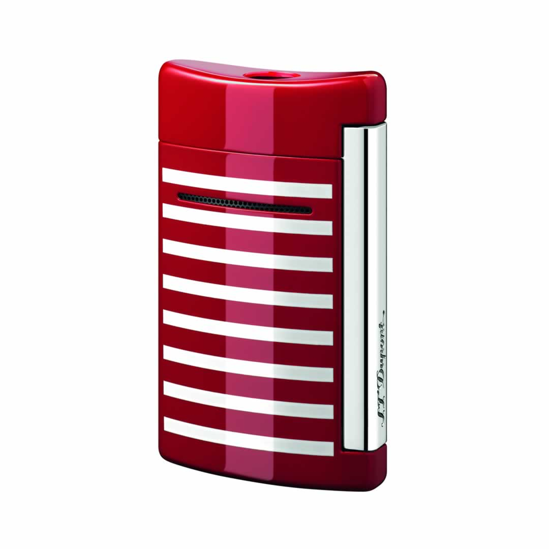 ST Dupont Lighter - Minijet - Red with white stripes