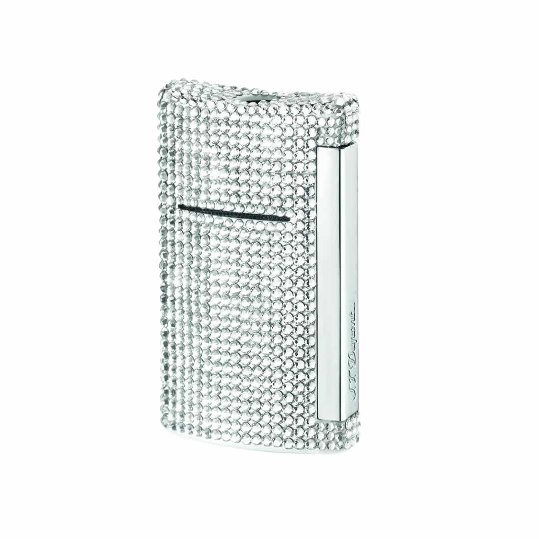 ST Dupont Lighter - Minijet - Swarovski Crystal White