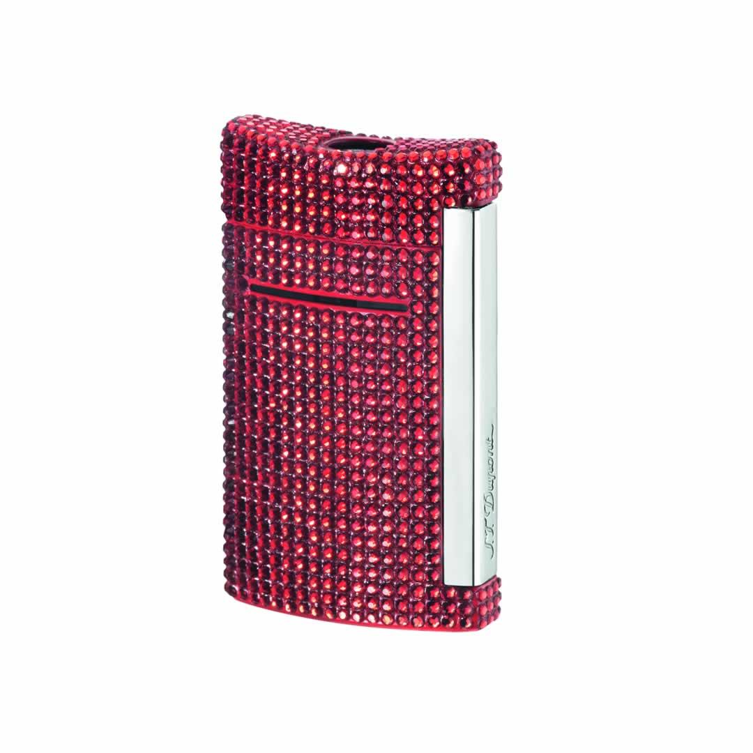 ST Dupont Lighter - Minijet - Swarovski Crystal Red