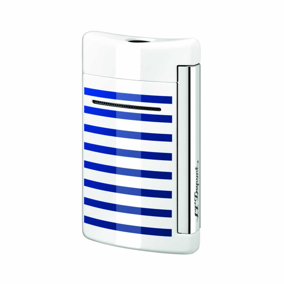 ST Dupont Lighter - Minijet - White with blue stripes