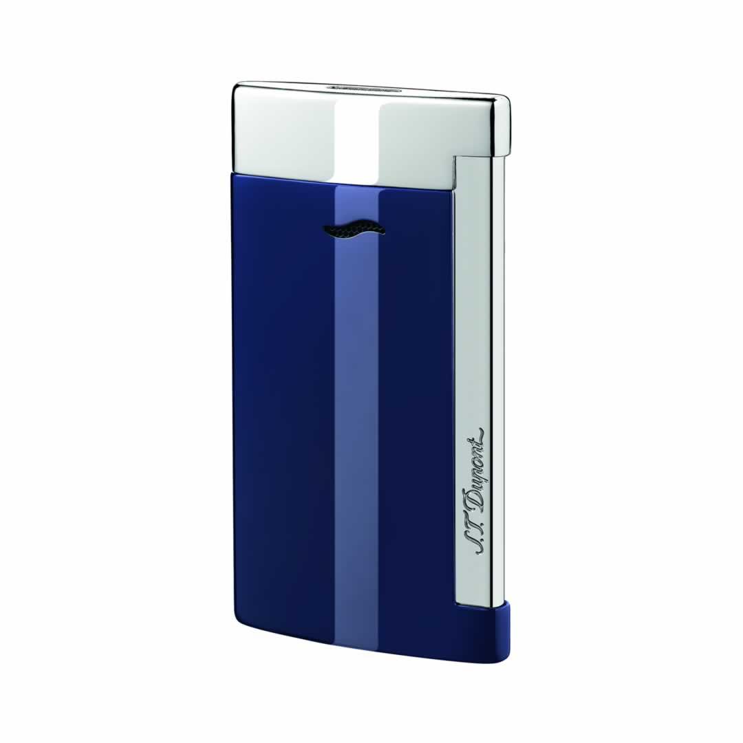 ST Dupont Lighter - Slim 7 - Chrome and Blue