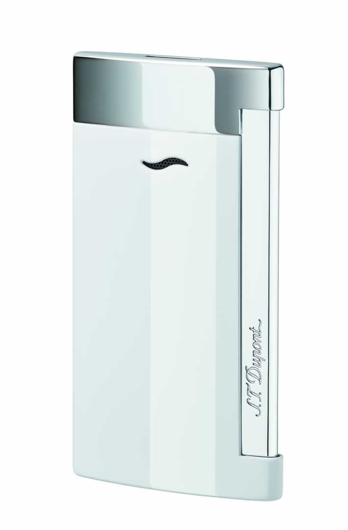 ST Dupont Lighter - Slim 7 - Chrome and White Lacquer