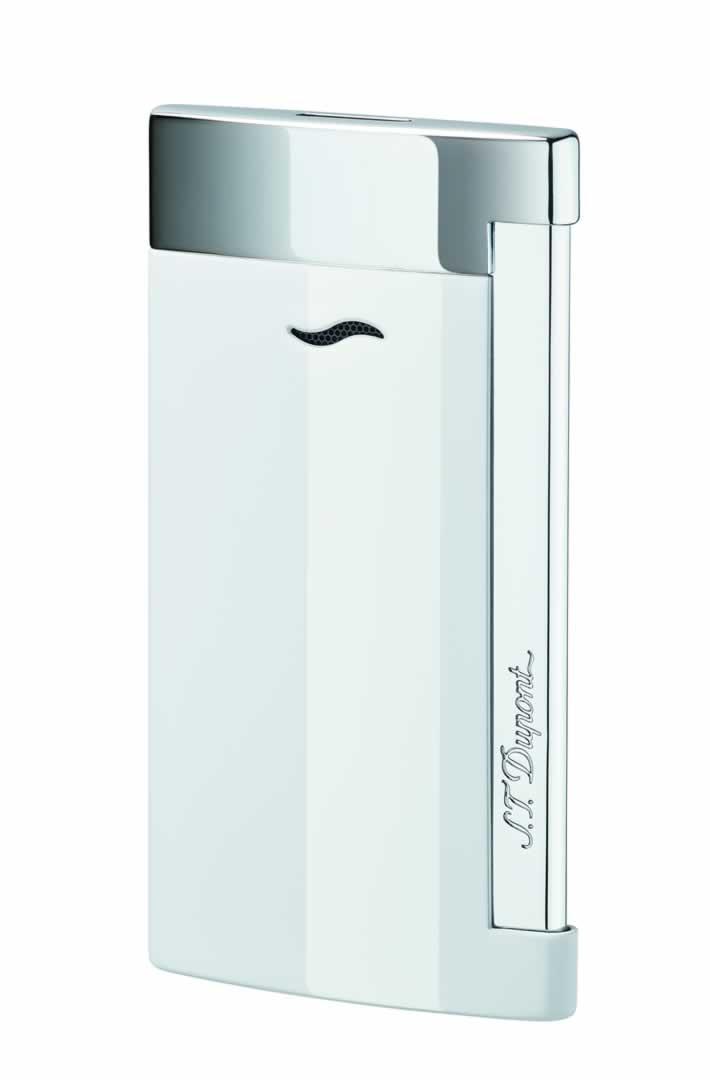 ST Dupont Lighter - Slim 7 - Chrome and White Lacquer