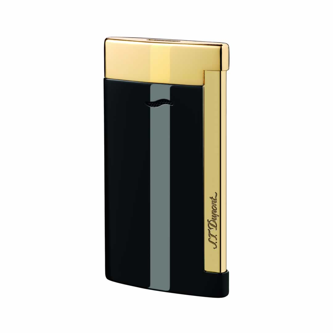 ST Dupont Lighter - Slim 7 - Golden and Black