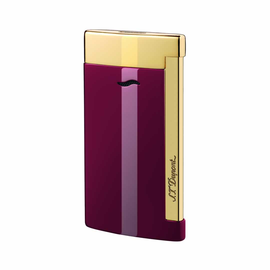 ST Dupont Lighter - Slim 7 - Golden and Lotus Red